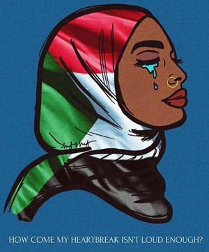#BlueforSudan لاقى تجاوبا ودعما دوليا، وشارك فيه عدد من مشاهير العالم، خاصة في ظل قطع الإنترنت ومحاولة العسكر التعتيم على ما يحدث في البلاد