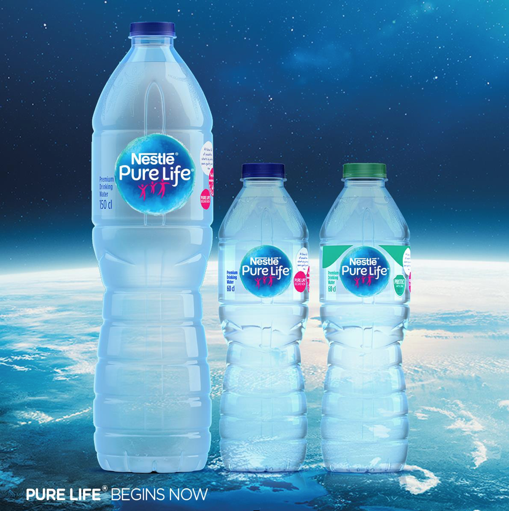 Nestle : pure life's new look is so attractive  but there's more to